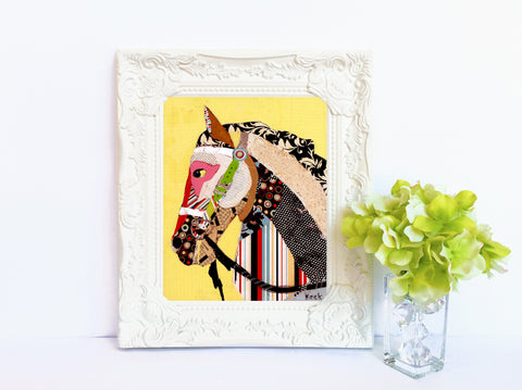 ANIMAL ART Paper Print of Horse II