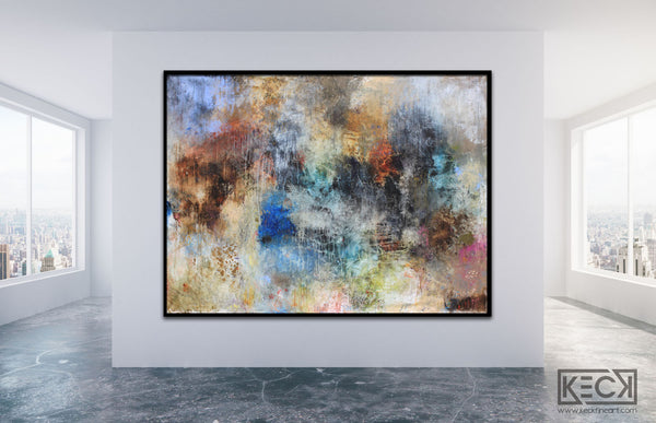 Large Abstract Art. Huge Mixed Media Paintings. Oversized Abstract, Collage and Mixed Media Paintings for Large Wall Spaces.