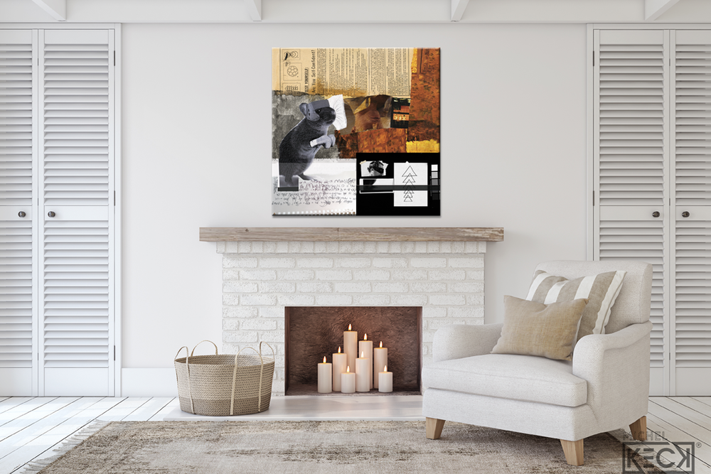 Are You A Man Or A Mouse <br> Canvas Art Print