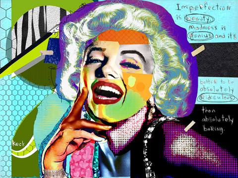 Marilyn Monroe Art Gallery:  Original Marilyn Monroe Modern Art Paintings and Prints.