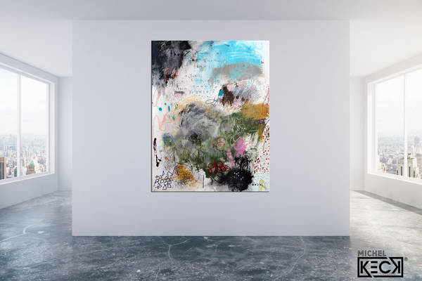 Abstract Canvas Art Print <br>2020 Collection <br>Title:  you<br> Michel Keck