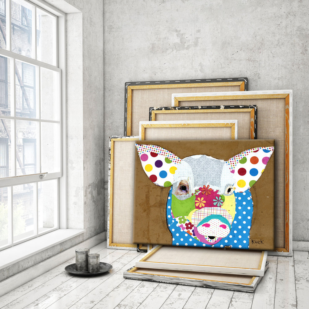 Load image into Gallery viewer, Pig I <br> Animal Art Canvas Print