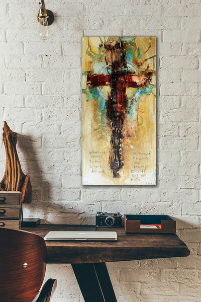 CROSS ART PRINTS. Abstract Cross Art Print with PSALM 91: 14