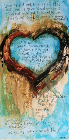 Original 1 CORINTHIANS 13 LOVE IS PATIENT # 061632