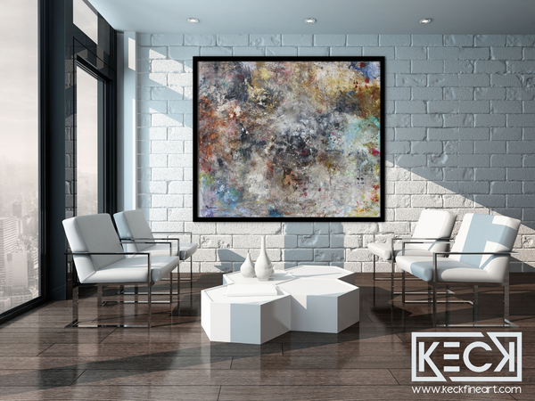If you are looking for massive abstract art pieces for large spaces abstract artist Michel Keck creates breathtaking statement pieces for large wall spaces needing to be filled with original art.