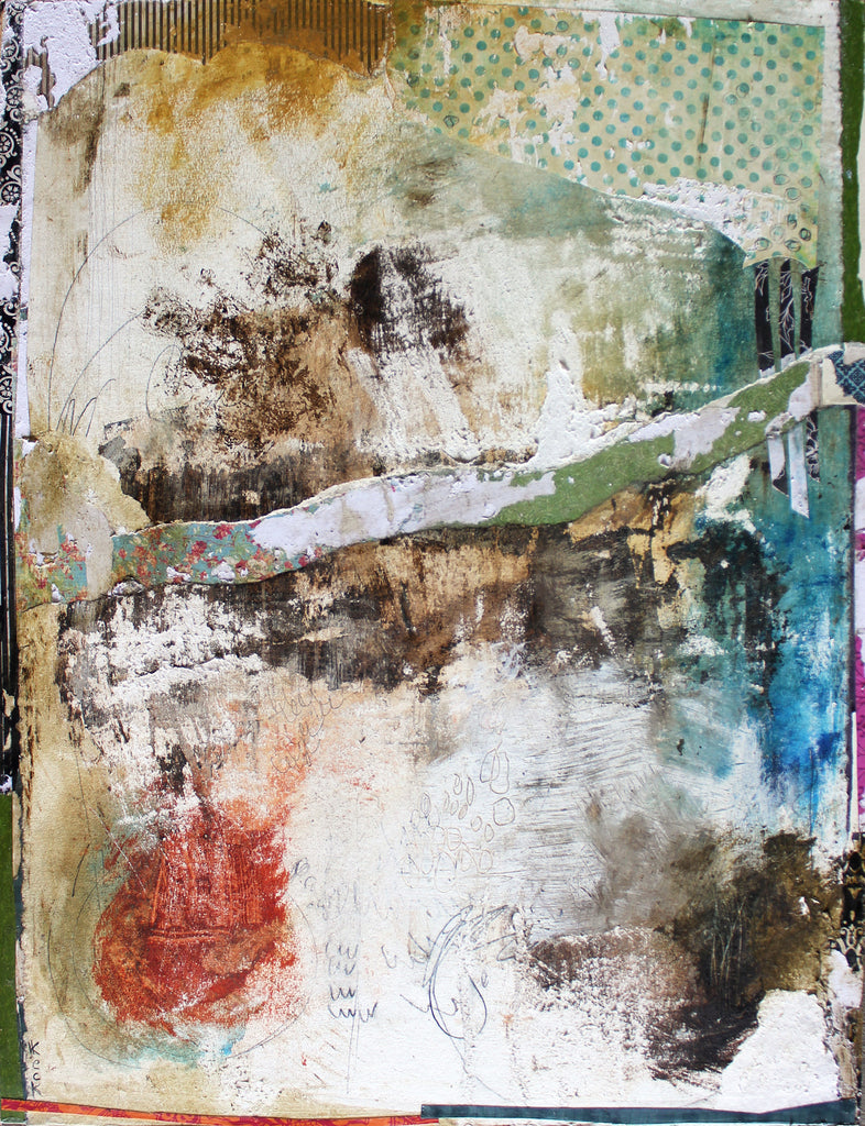 "#081604 <br> ""It Don't Hurt Like It Used To"" <br> Original Mixed Media on wood"