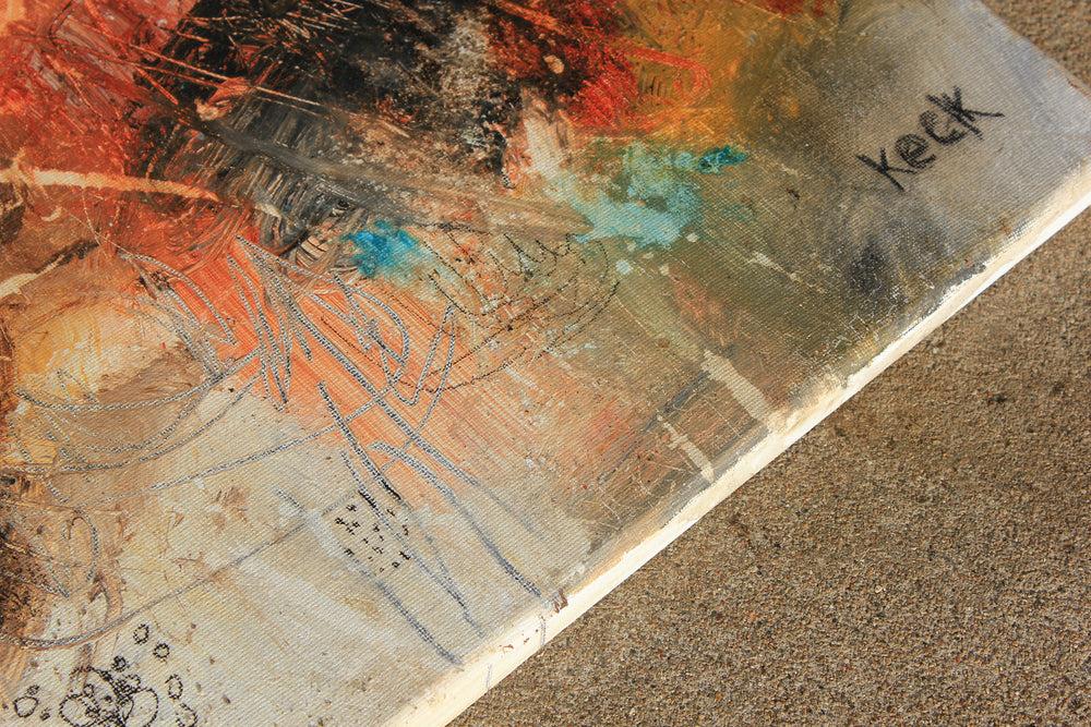 #011504 <br> That Old Familiar Feeling <br> Original Abstract Art Painting <br>on Canvas