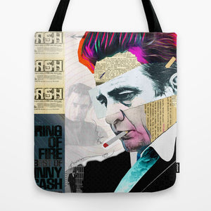 Load image into Gallery viewer, Johnny Cash Tote Bag