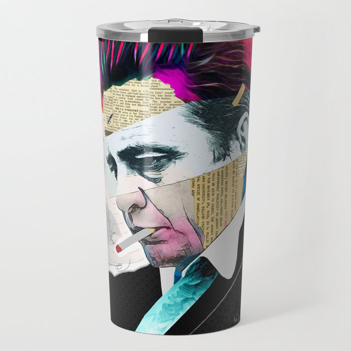 Load image into Gallery viewer, Johnny Cash Travel Mug