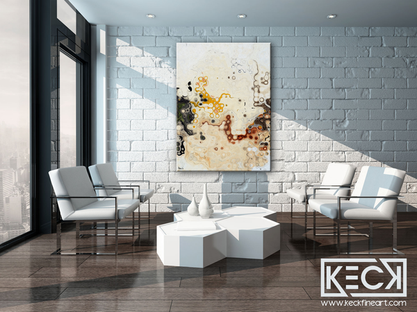 EARTH TONE ABSTRACT ART PRINTS BY MICHEL KECK