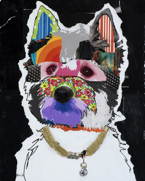 Original Dog Art Collage: West Highland Terrier