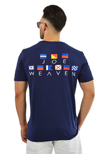Back view nautical flags T-Shirt