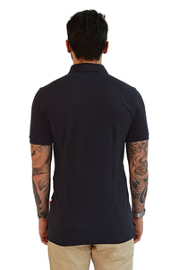 back view zip up polo