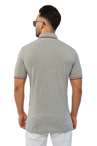 Back view french tip tailored polo