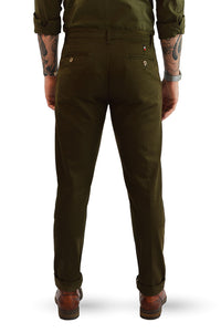 Back view military slim fit chino