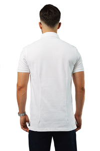 back view white tailored polo