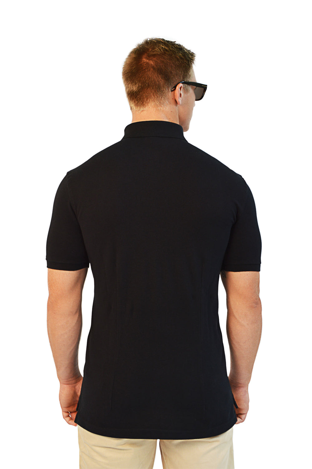 back view black polo