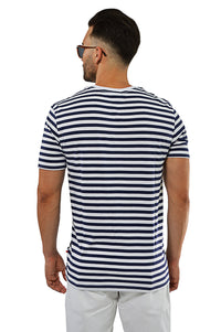 Back view nautical stripe T-Shirt