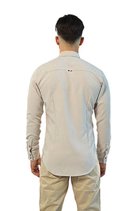 back view non-iron linen shirt