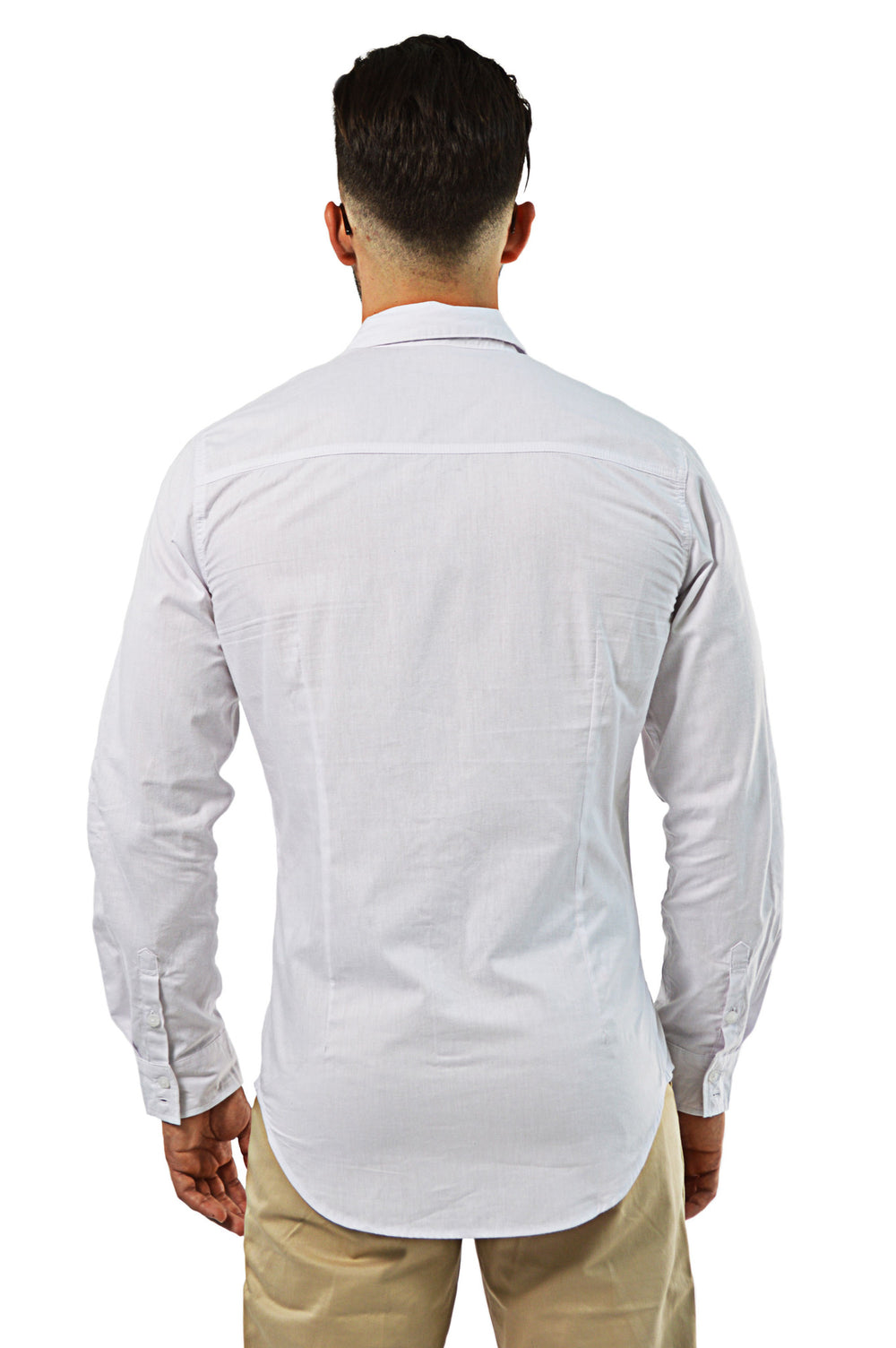 back view tailored white shirt