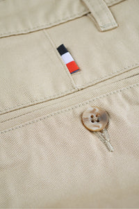 Close up back pocket and button