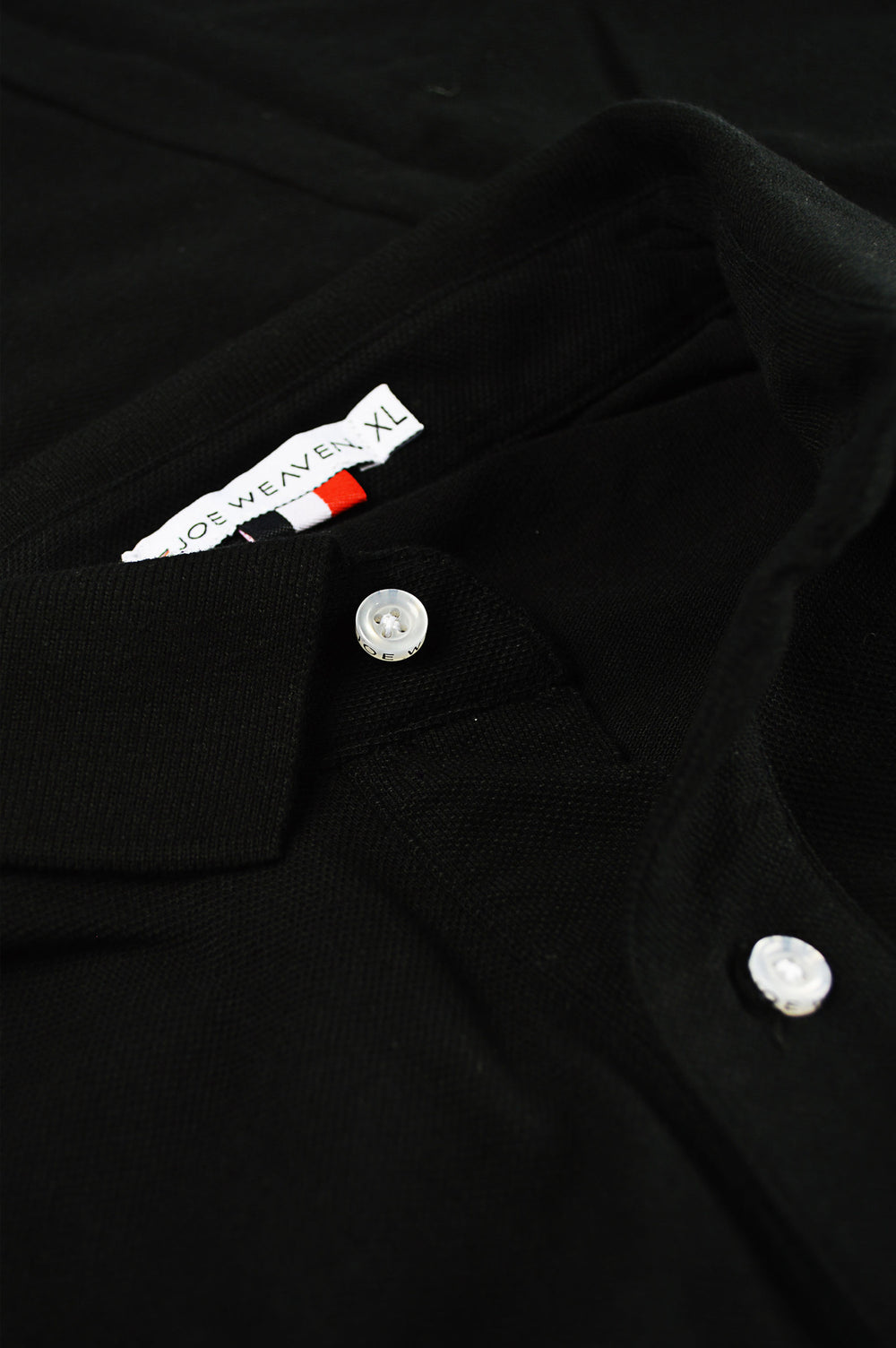 front placket black polo