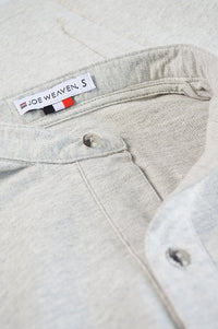 Close up front placket and tag