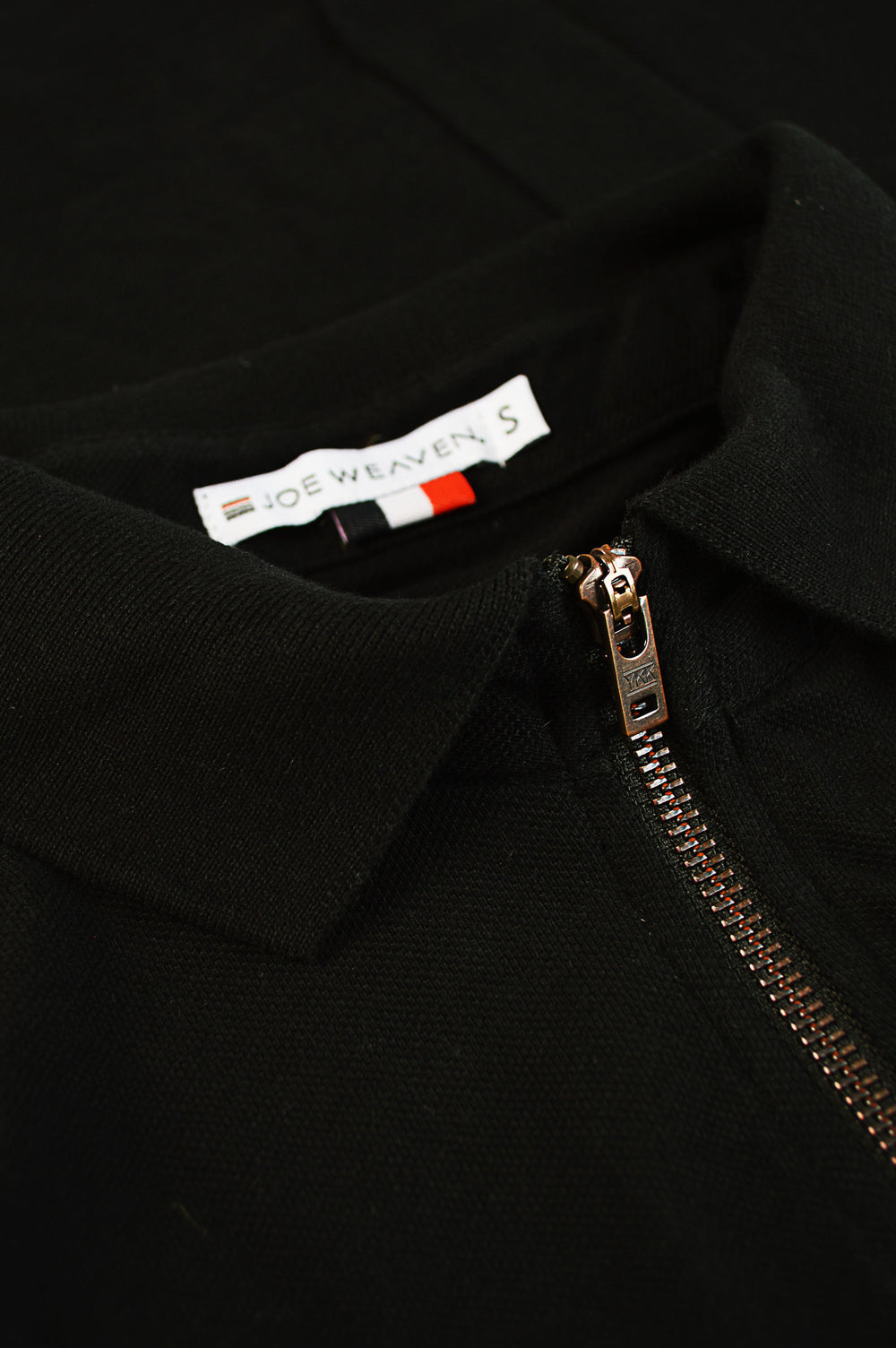 raw vintage ykk zipper black polo