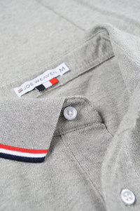 Close up polo placket and tag