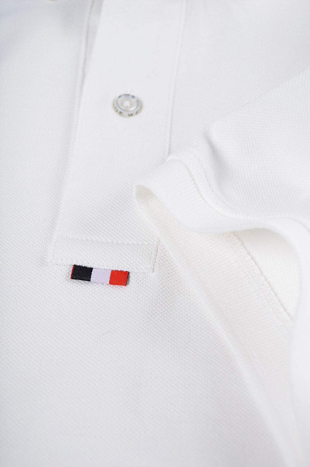 bottom placket white polo