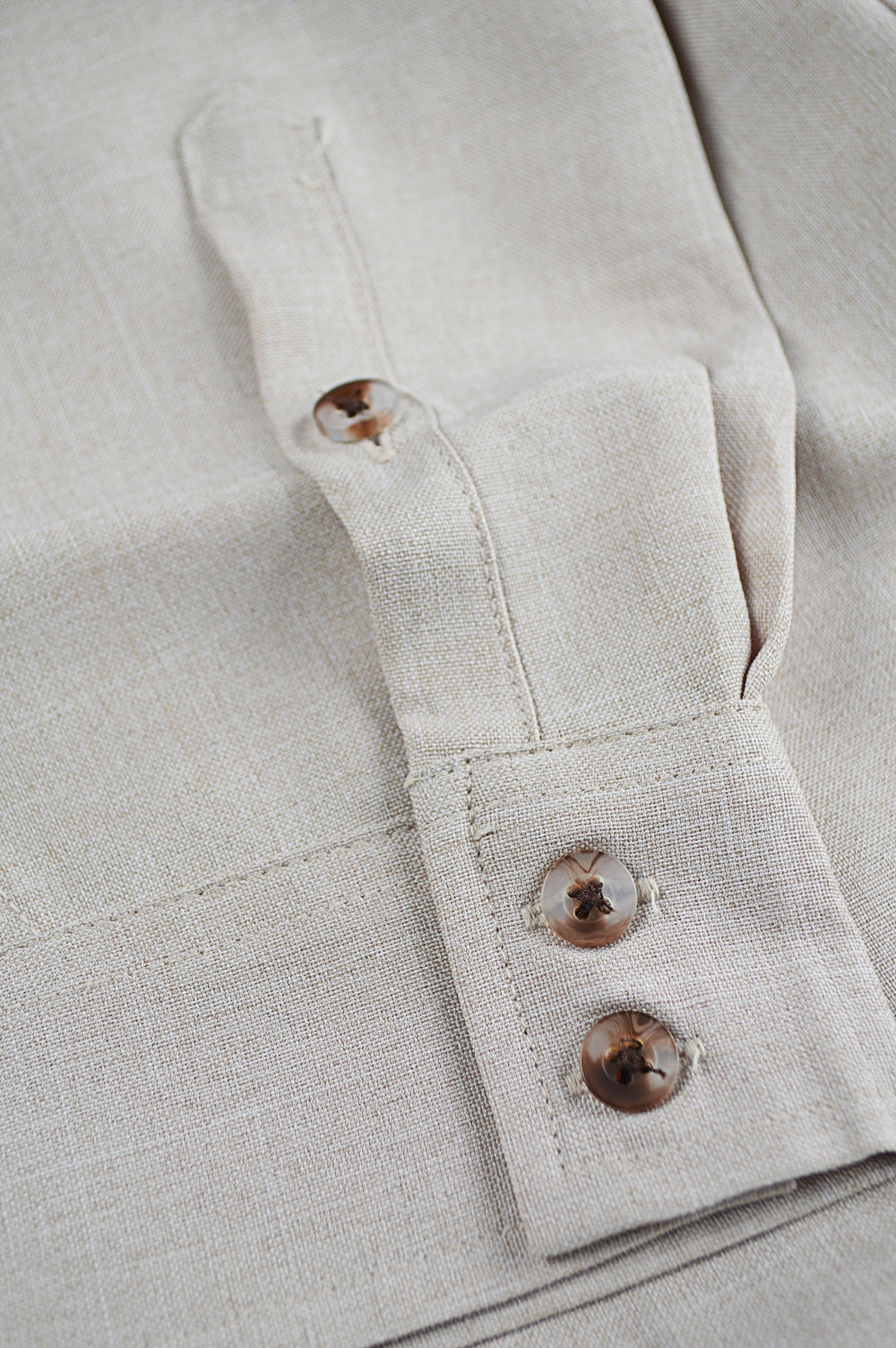 cuff of non-iron linen shirt