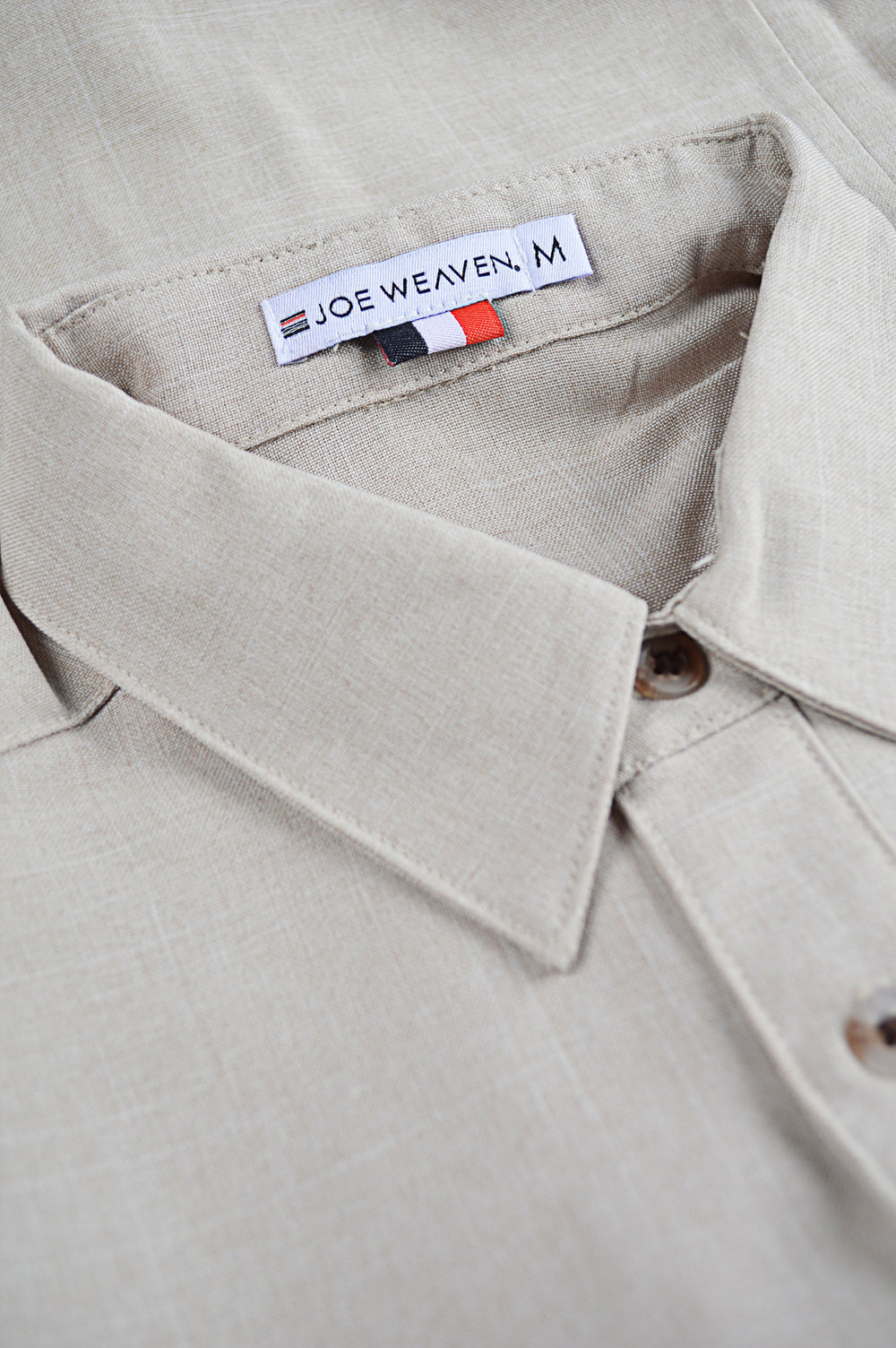 collar non-iron linen shirt