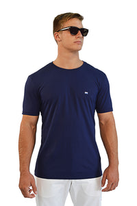 front view navy t-shirt