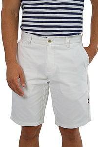 White tailored chino shorts
