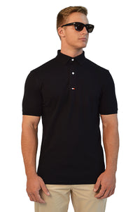 Rich Black Tailored Polo