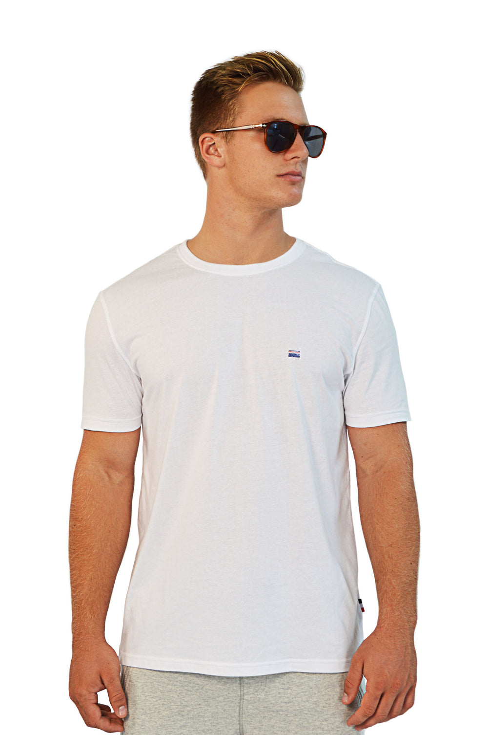 front view white t-shirt
