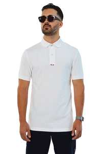 front view white tailored polo