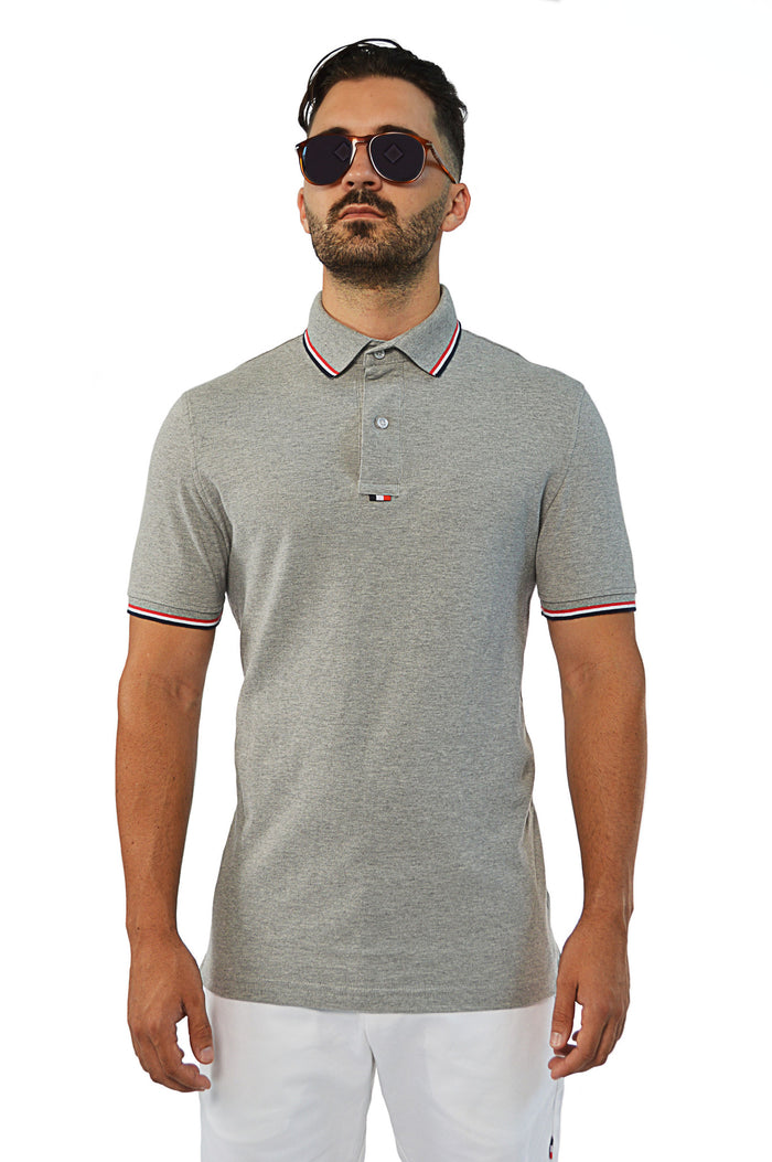 Front view french tip tailored polo