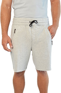 Front view french terry gym shorts