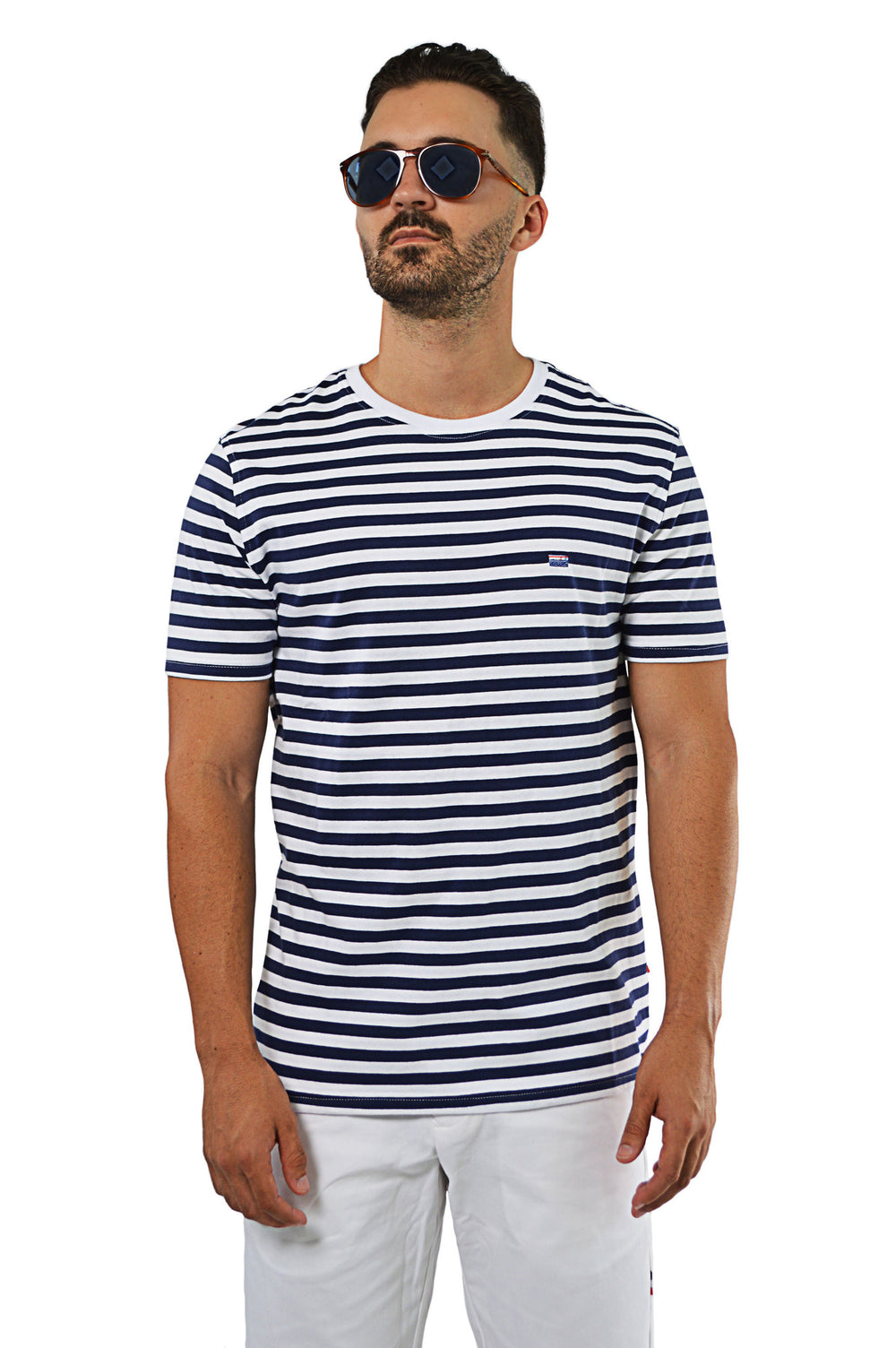 Front view nautical stripe T-Shirt