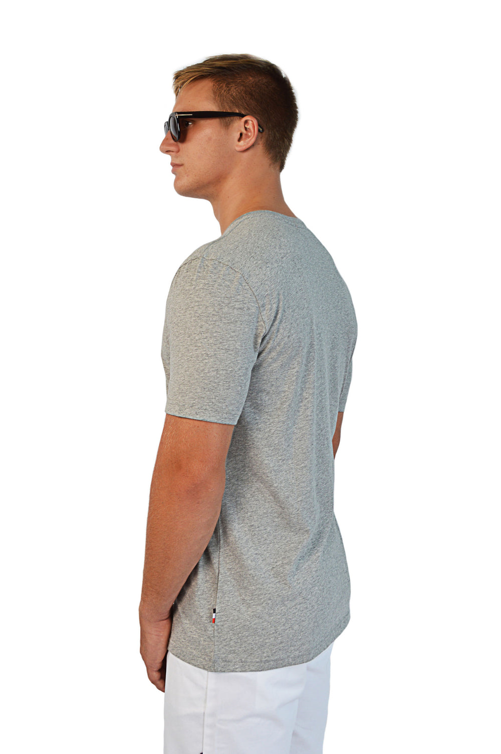 side view grey t-shirt