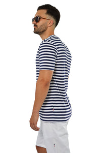Side view nautical stripe T-Shirt