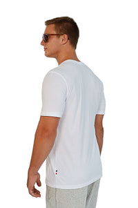 side view white t-shirt