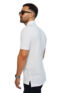 side view white tailored polo