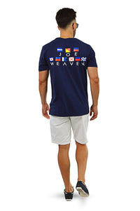 Nautical flags shirt walking