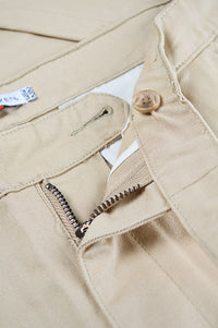 Close up front placket design chinos