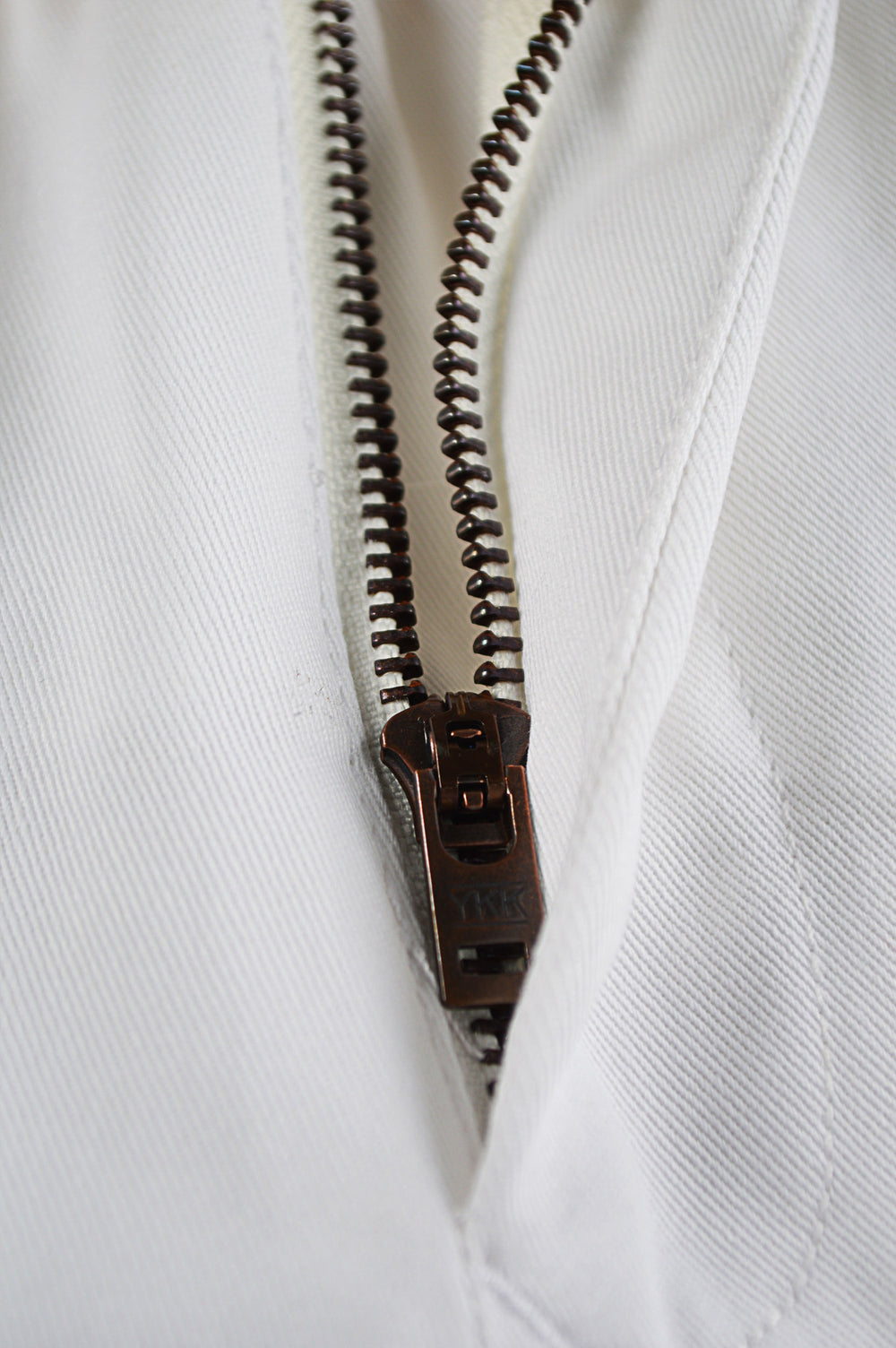 raw vintage ykk zipper
