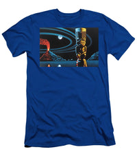 Tiki Totem Native Tribal Volcano With Moon Sleeping Sentinel After Robb Hamel #r55  - Men's T-Shirt (Athletic Fit)