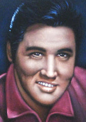 "Elvis Presley Portrait , Original Oil Painting on Black Velvet by Alfredo Rodriguez ""ARGO"" - #A20"