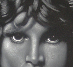 "Jim Morrison Portrait,  Original Oil Painting on Black Velvet by Alfredo Rodriguez ""ARGO"" - #A29"